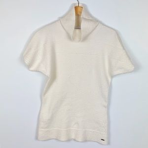 COLUMBIA cream cowl neck sweater size M